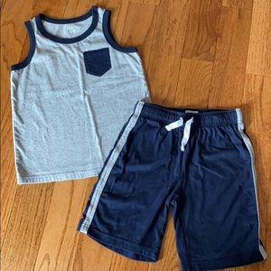 Boys short and tank set
